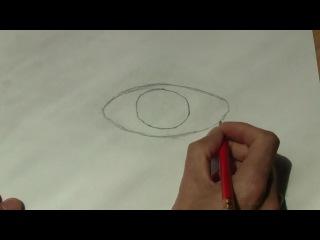 Как нарисовать реалистичный глаз - 2 простых шага